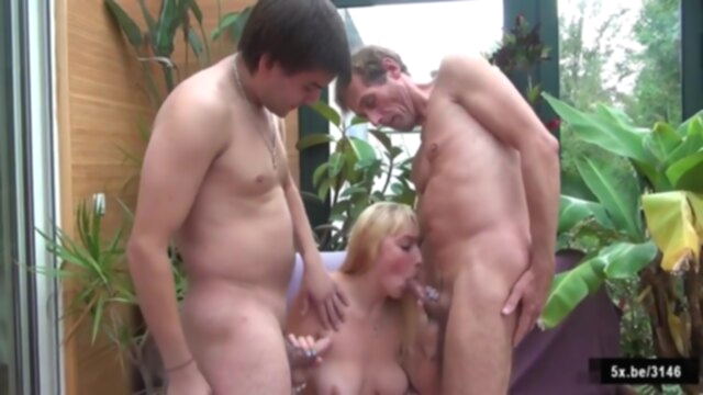 Armelle, A Blonde Teen Double Penetrated KeezMovies amateur