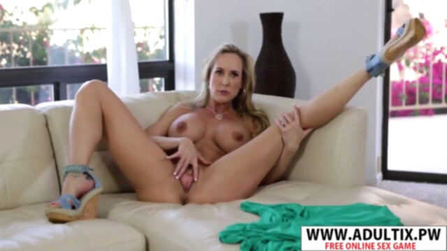 Chesty Step-mom Brandi Love Gives Handjob Cool Young Step Son KeezMovies big ass