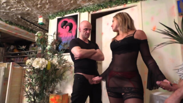 French Slut in Black Stockings gets Fucked by Two Cocks KeezMovies anal