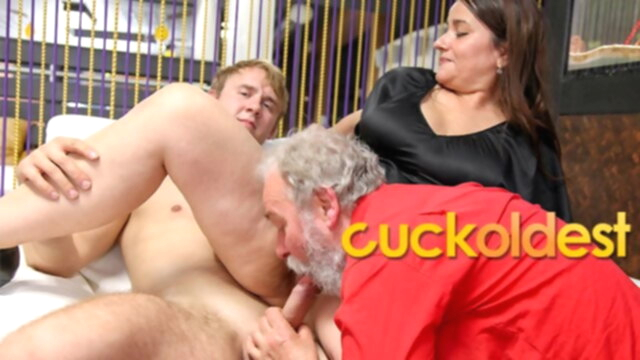 Grandpa Wants me to Fuck Him and his Wife KeezMovies blowjob