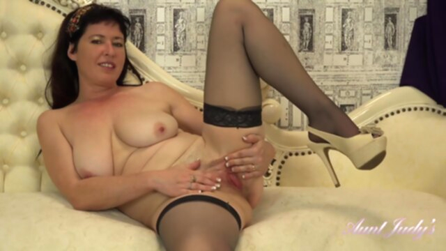 AuntJudys - Auntie Janey Wants To Watch You Jerk Off KeezMovies big tits