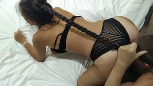 The wettest slut ever in my hotel room KeezMovies blowjob