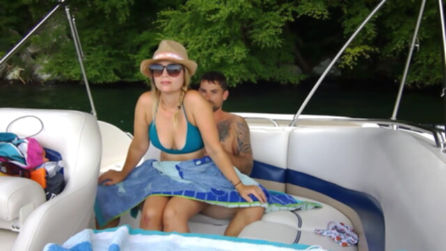 Some fun with public sex on our boat KeezMovies blowjob