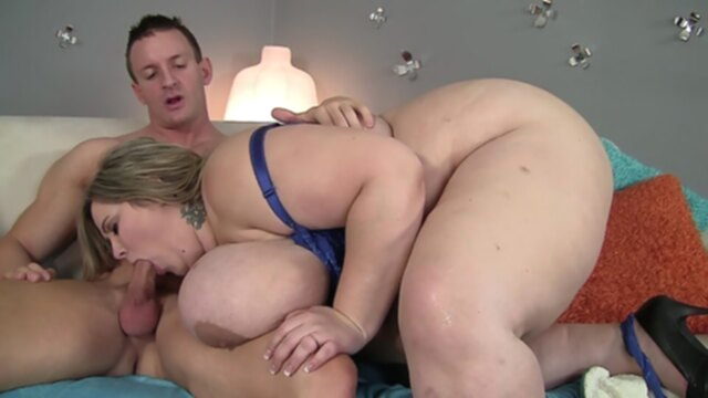Fit guy shoves his dick deep into a blonde BBW KeezMovies amateur