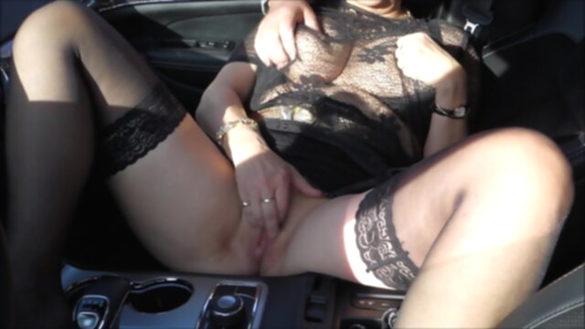 Horny married slut gets it in the car KeezMovies mature