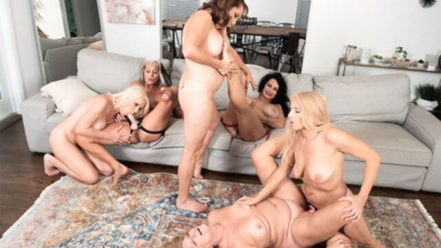 The First-Ever Six-Way Granny Orgy - Cammille Austin, Chery Leigh, Luna Azul, Mia Magnusson, Rita Daniels, And Sally D'angelo - 60PlusMilfs KeezMovies big ass